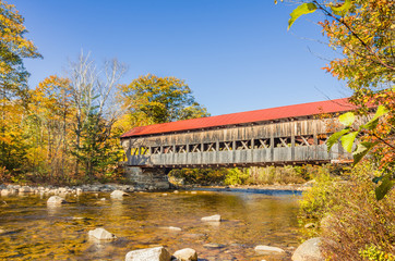 Covered Bridge and Autumn Colours