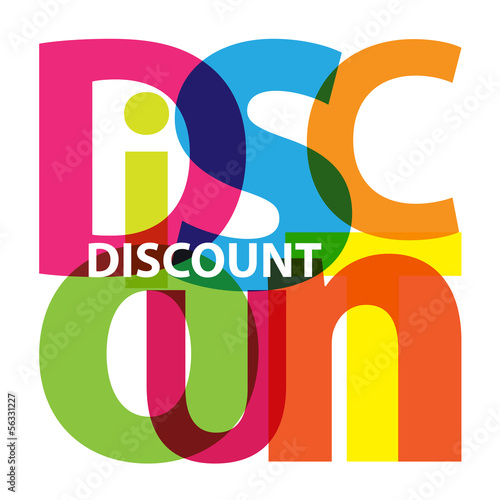 Vector Discount. Broken text