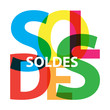 Vector Soldes. Broken text