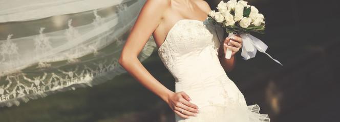 young caucasian bride