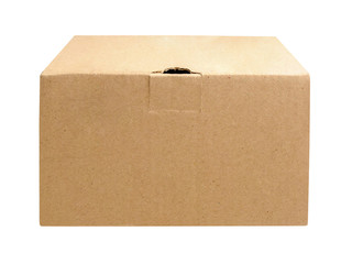 Brown box isolated