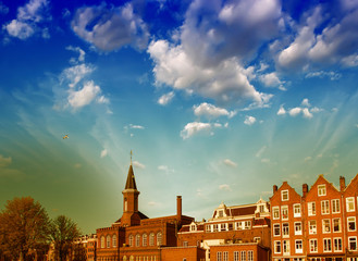 Amsterdam, The Netherlands. Homes and Landmarks