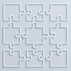Set of paper parts puzzle
