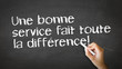 Good Service makes the difference (In French)