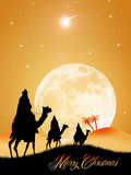 Three wise men at Christmas