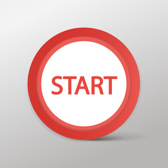 Red button Start web icon