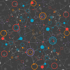 Dark network color technology communication background
