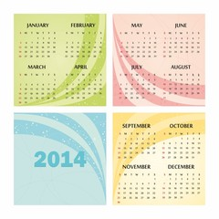 2014 calendar design.