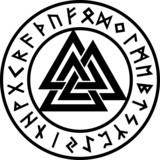 Valknut, Runen Kreis, Odin Symbol, Dreieinigkeit