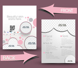 Beauty Care & Salon Front & Back Flyer Template