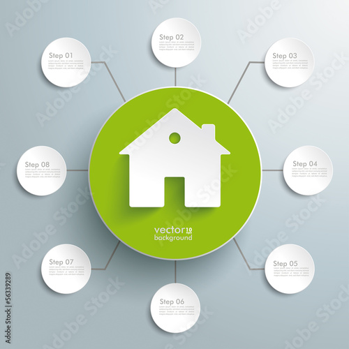 House Green Circle 8 Options