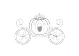 Carrosse de princesse - sticker gris