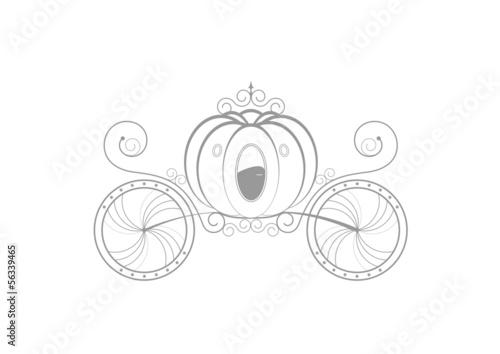 Carrosse de princesse sticker gris fichier vectoriel libre de d - Carrosse de princesse ...