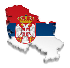 Serbia (clipping path included)