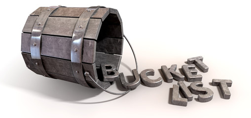 Bucket List Charm And Letters