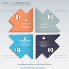 Infographics design element with arrows