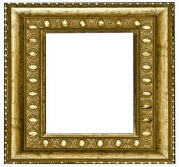 horizontal vintage wooden frame over white background