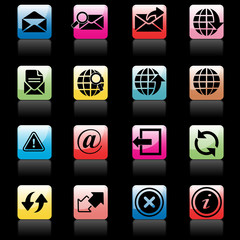 communication and web icons set