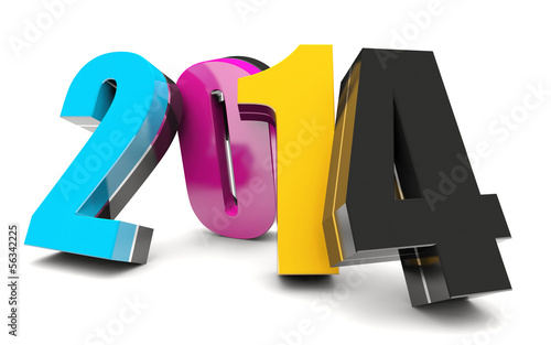 CMYK 2014 Happy New Year calendar background