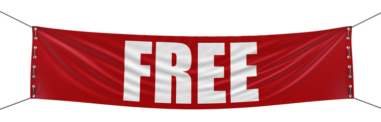 Free Banner (clipping path included)