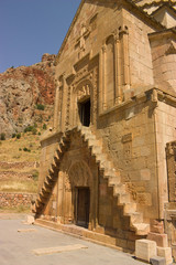 Noravank  monastery first floor entrance