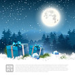 Christmas night - greeting card