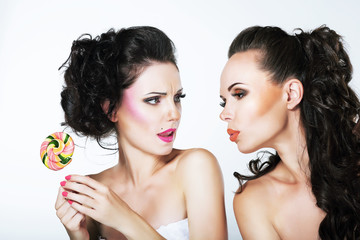 Two Styled Women with Sweets. Inspiration