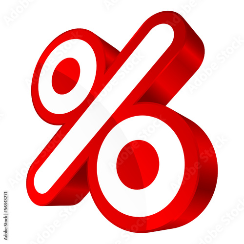 Sale Red Percent Sign 3D