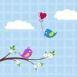 vögel liebesgruß