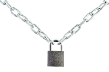 Padlock joined two chains