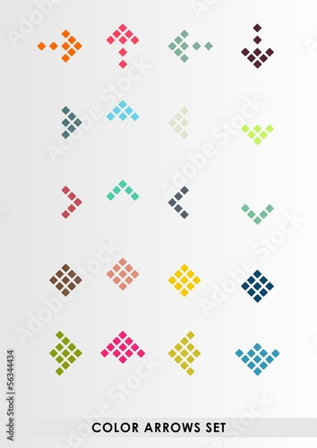 Color vector arrows set