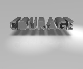 Courage in 3D Letters