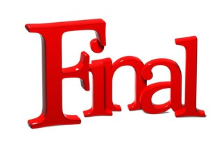 3D Word Final on white background