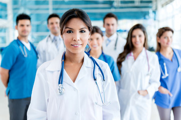Doctor with her team