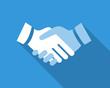 handshake flat
