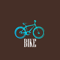 vintage illustration with a bike icon
