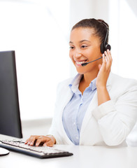 african female helpline operator