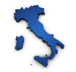 Map Of Italy 3d Shape