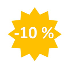 10 percent sale icon
