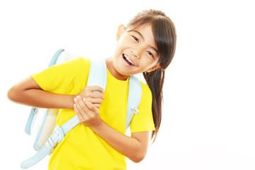 笑顔の女の子(小学生)