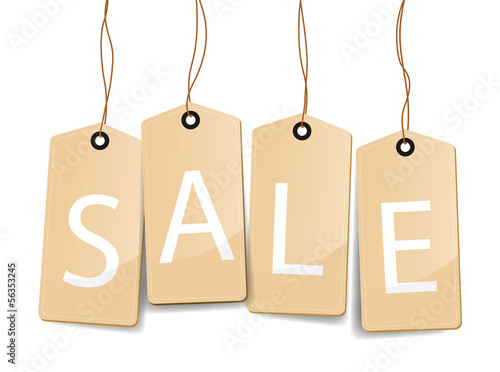 set of sale tag labels