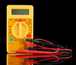 Multimeter on black background