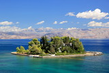 Mouse Island near Corfu Greece