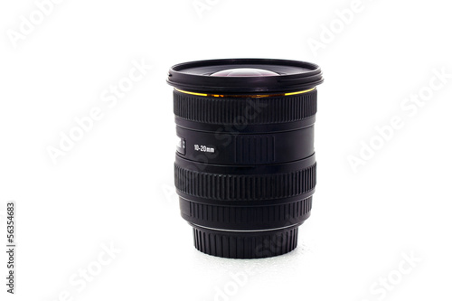 wide angle lens isolate white background