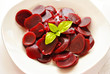 Pickled Beets with Basil Leaf