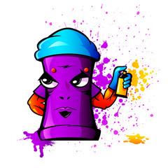 Harsh looking can as graffiti artist