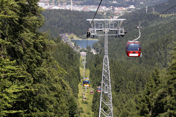 Cable car in Malino hill, Ruzomberok in Slovakia