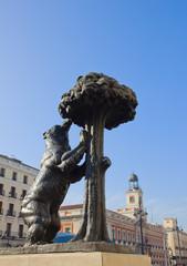 bear with strawberry tree, symbol of Madrid, Spain