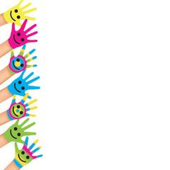 Mains smiley-à gauche