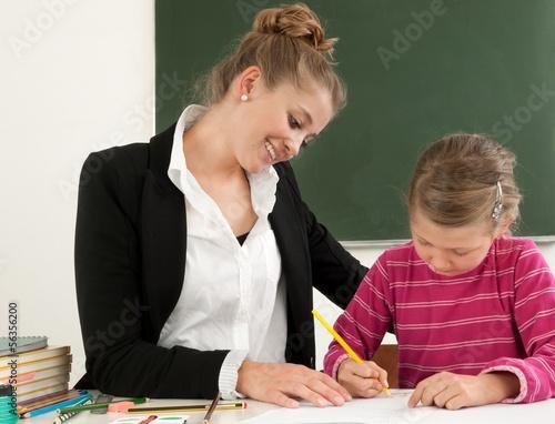 Lehrerin im Einzelunterricht